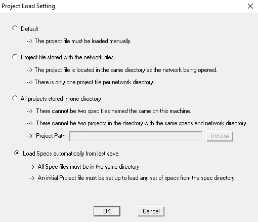 Project Load Setting 2