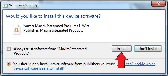 Install the 1-Wire Driver